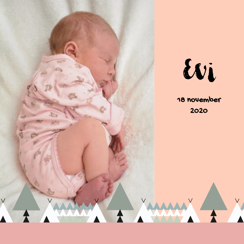 Geboortekaartjes - Geboorte meisje bos thema 1E