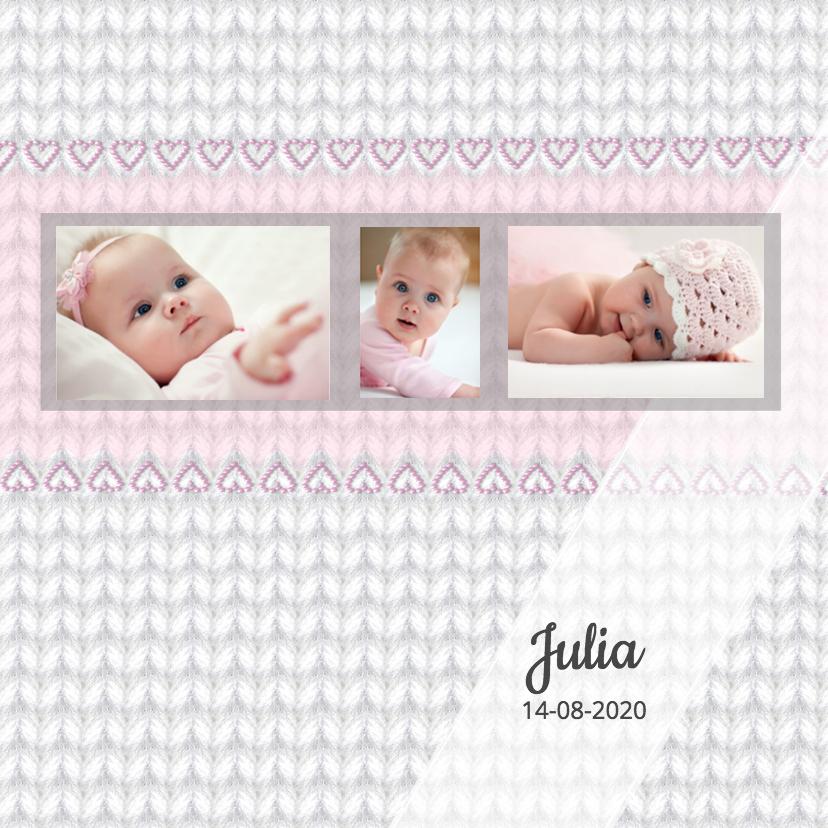 Geboortekaartjes - Geboorte meisje - breiwerk