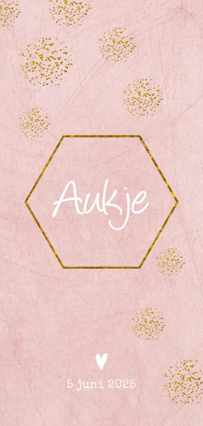 Geboortekaartjes - Geboorte meisje hexagon