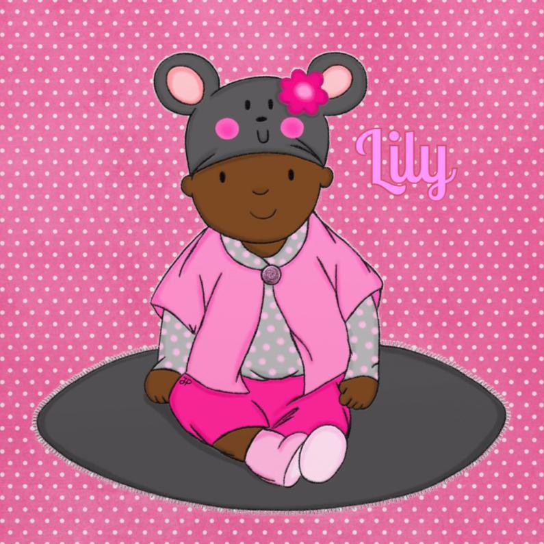 Geboortekaartjes - Geboorte Meisje Muis - TbJ