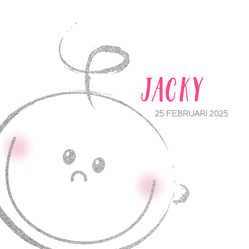 Geboortekaartjes - Geboorte meisjes of jongens kaart met blij baby gezichtje