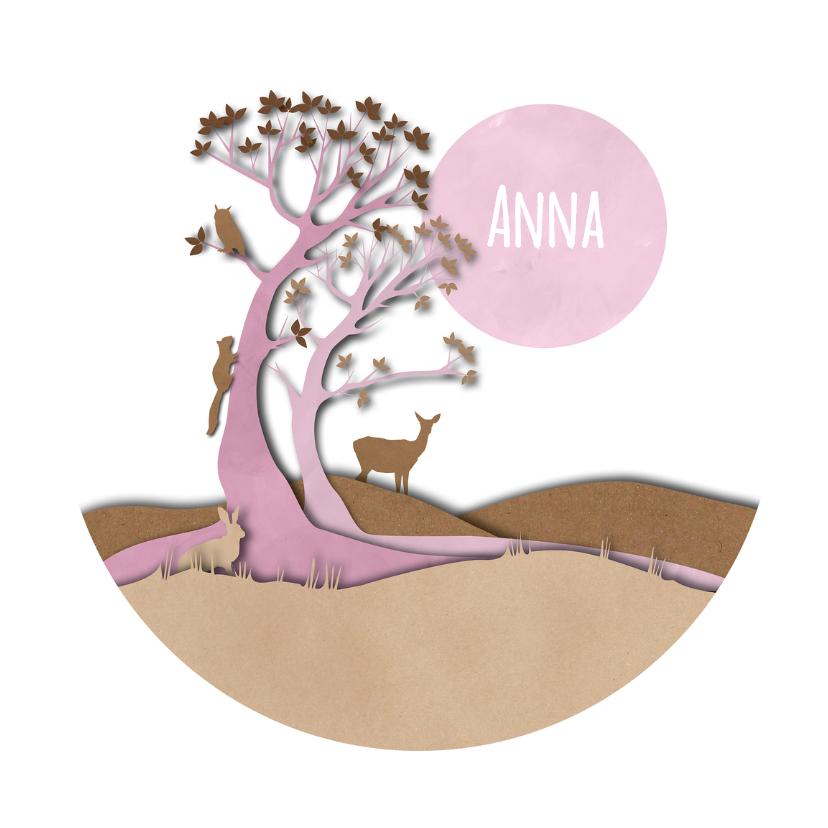 Geboortekaartjes - Geboorte - New Wood Girl - MW