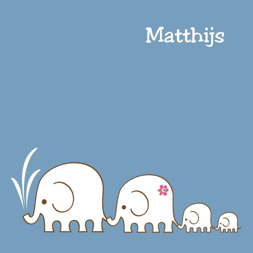 Geboortekaartjes - Geboorte olifant-tweede zoon-PF