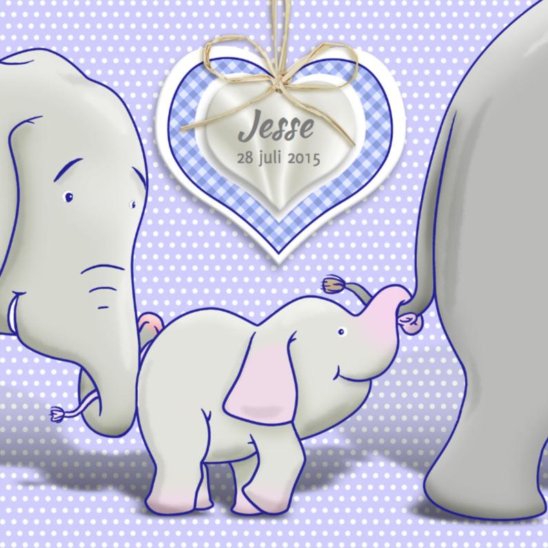 Geboortekaartjes - Geboorte olifantje jongen