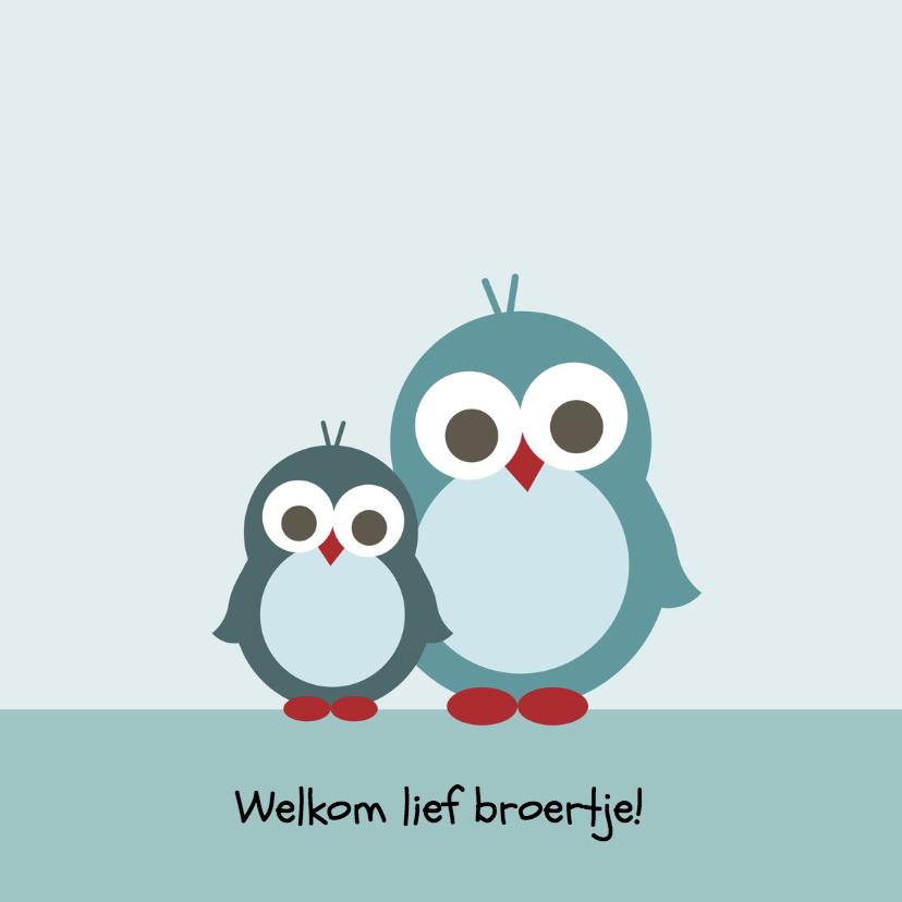 Geboortekaartjes - Geboorte - Pinguin broertjes