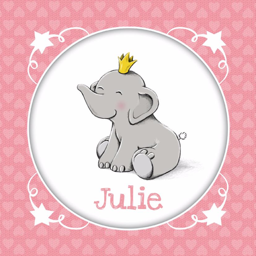 Geboortekaartjes - Geboorte prinses olifantje - IH