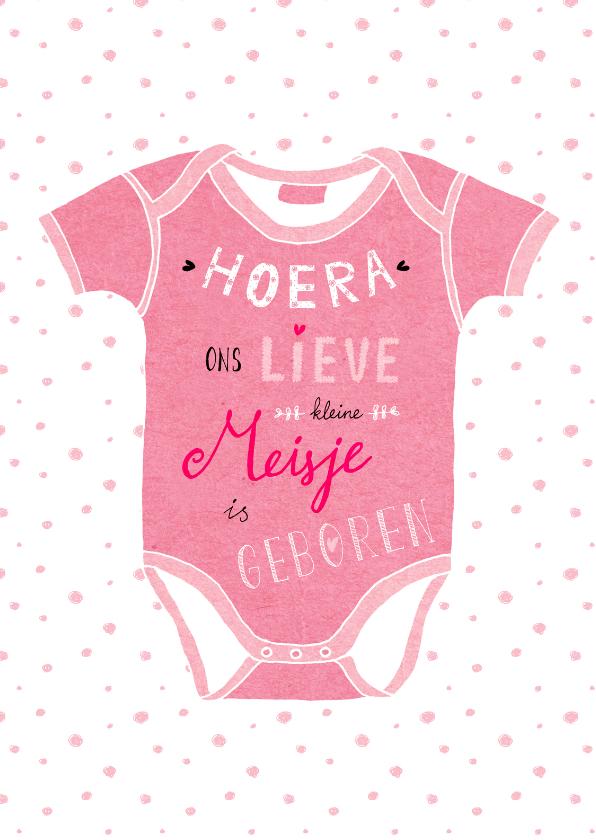 Geboortekaartjes - geboorte-romper-meisje-HR