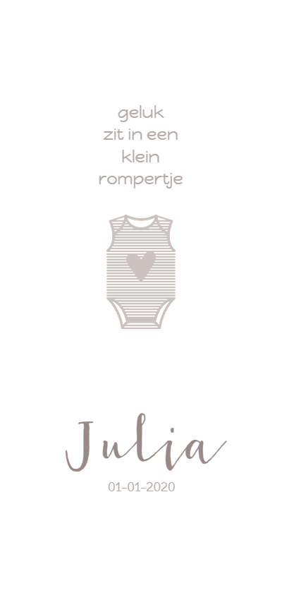 Geboortekaartjes - Geboorte rompertje