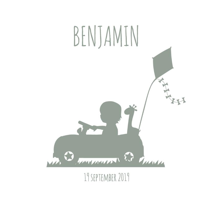 Geboortekaartjes - Geboorte Silhouet Benjamin - B