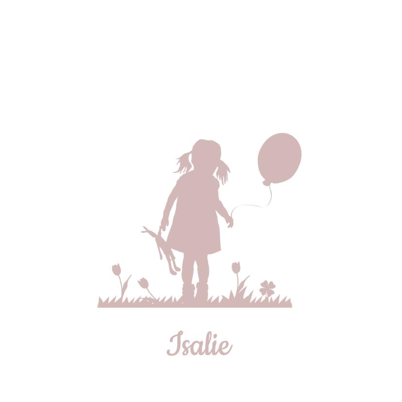 Geboortekaartjes - Geboorte silhouet Isalie - B