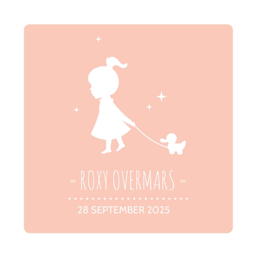 Geboortekaartjes - Geboorte Silhouet Meisje Eendje