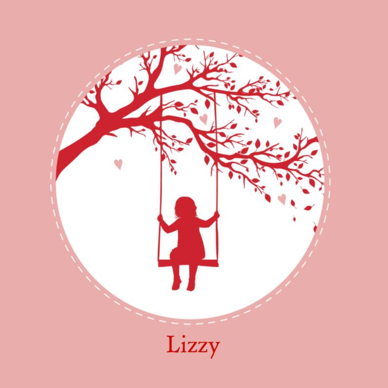Geboortekaartjes - Geboorte silhouette lizzy - B
