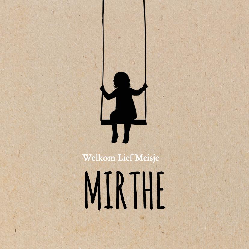 Geboortekaartjes - Geboorte silhouette mirthe - B