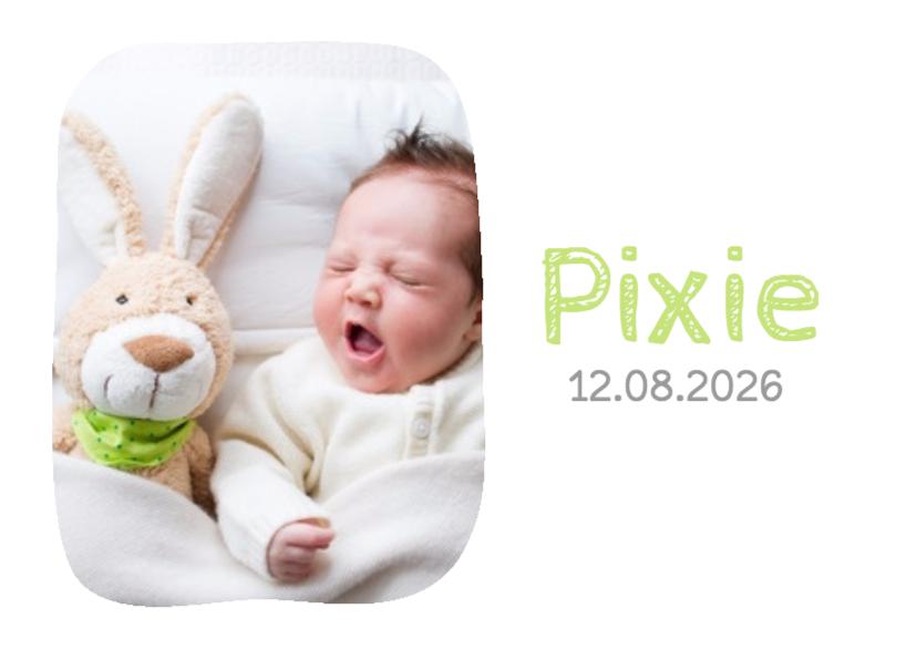 Geboortekaartjes - Geboorte simpel 1 foto - DH