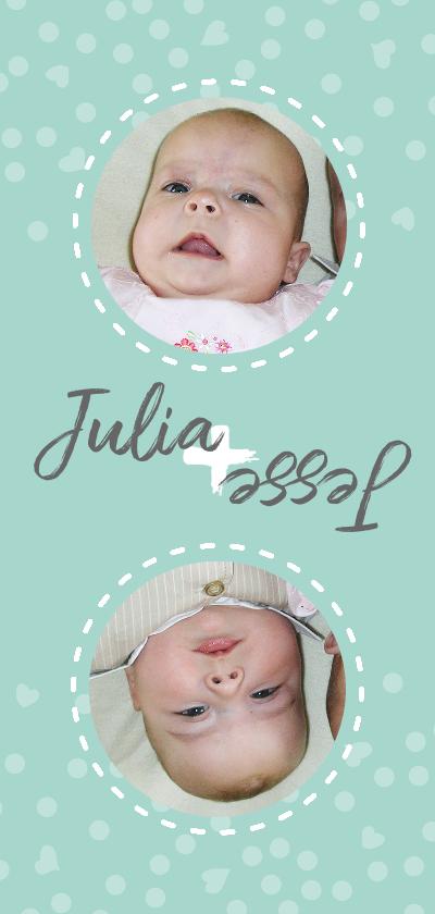 Geboortekaartjes - Geboorte tweeling gedraaid
