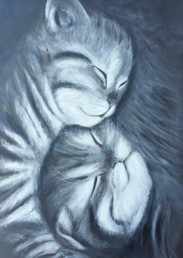 Geboortekaartjes - Geboorte van twee kattenkinderen