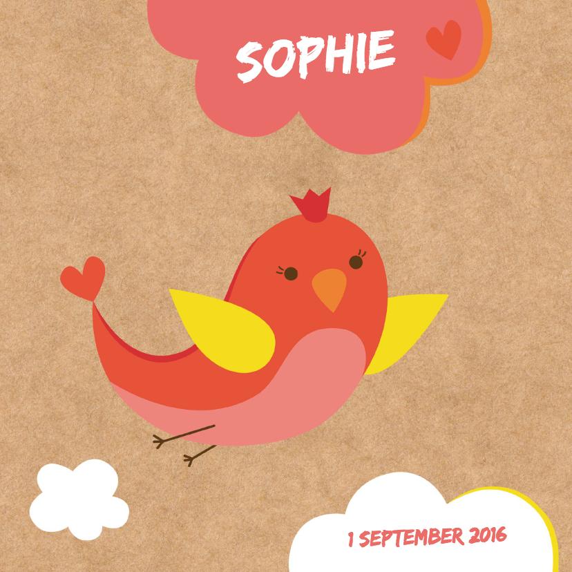 Geboortekaartjes - Geboorte-Vogeltje-HK