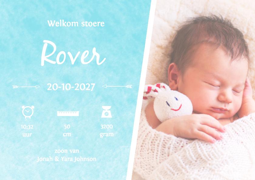 Geboortekaartjes - Geboorte waterverf Rover - DH