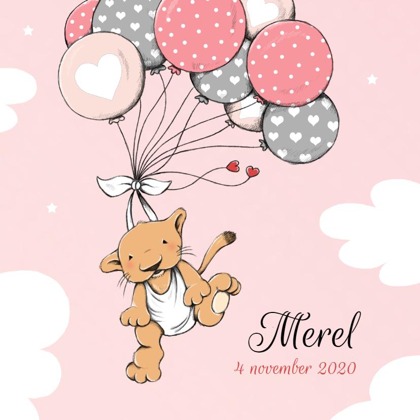 Geboortekaartjes - Geboorte welpje ballon - IH