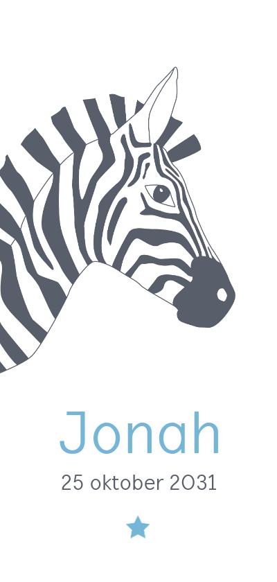 Geboortekaartjes - Geboorte - Zebra met ster