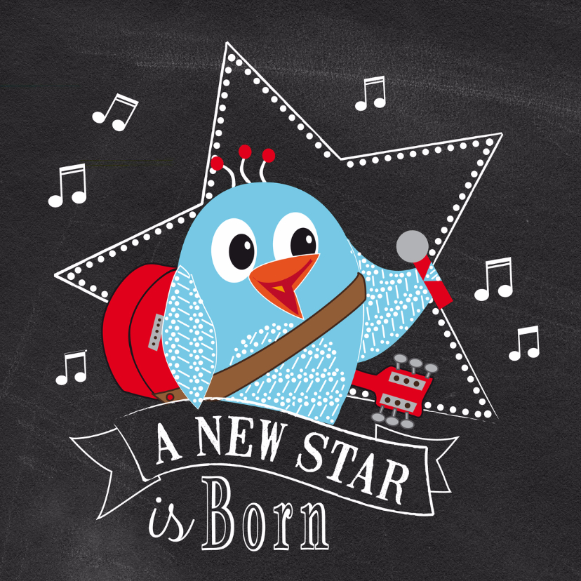 Geboortekaartjes - Geboortekaart a new star