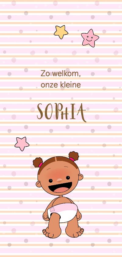 Geboortekaartjes - Geboortekaart adoptie meisje