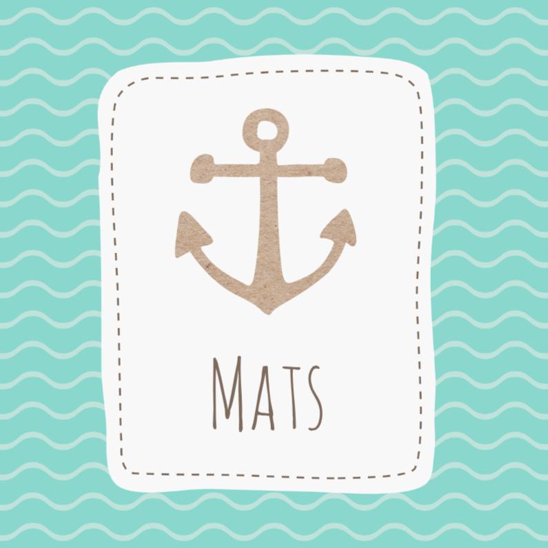 Geboortekaartjes - Geboortekaart Anker Mats