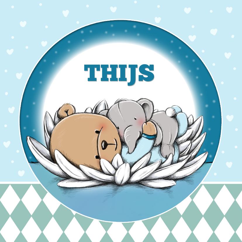 Geboortekaartjes - Geboortekaart beertje Thijs IH