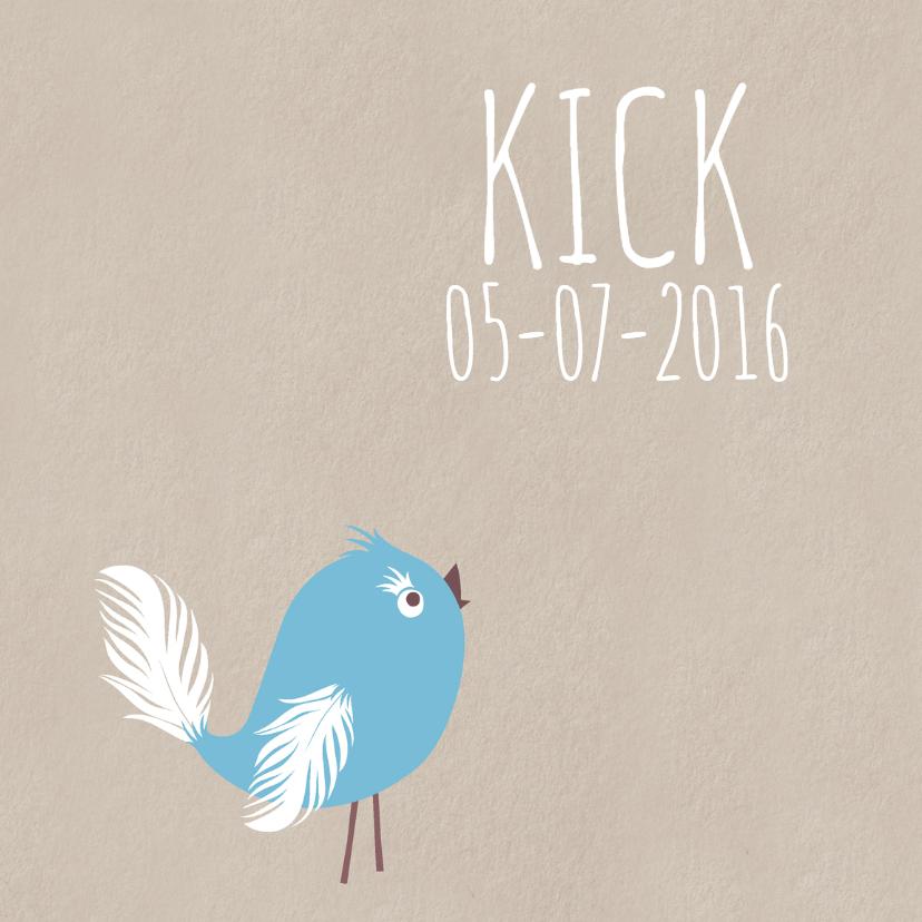 Geboortekaartjes - Geboortekaart Blue Bird