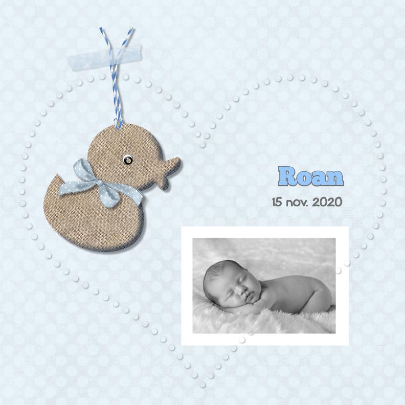 Geboortekaartjes - Geboortekaart eendje - jongen-