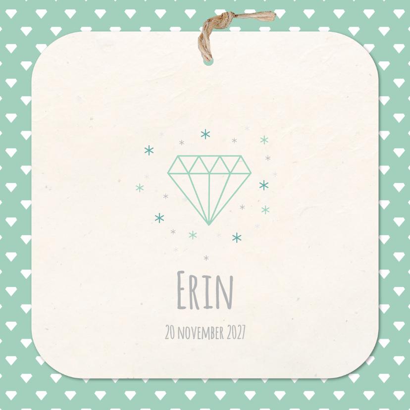 Geboortekaartjes - geboortekaart Erin Diamant
