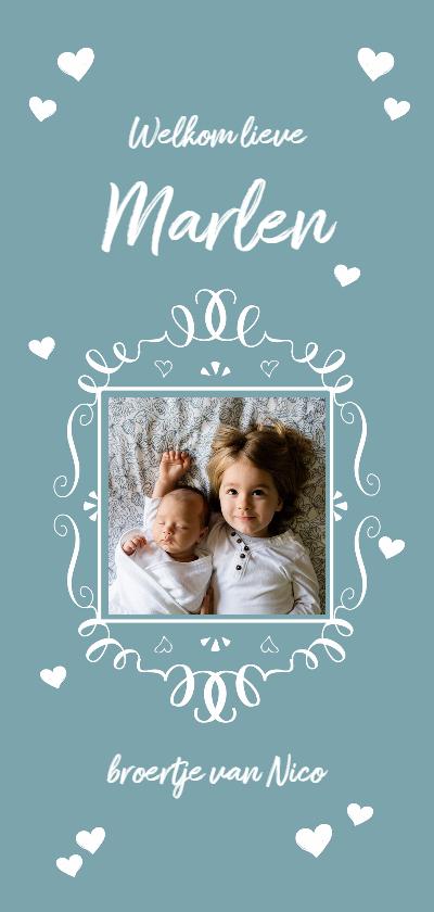 Geboortekaartjes - Geboortekaart fotolijstje jongen