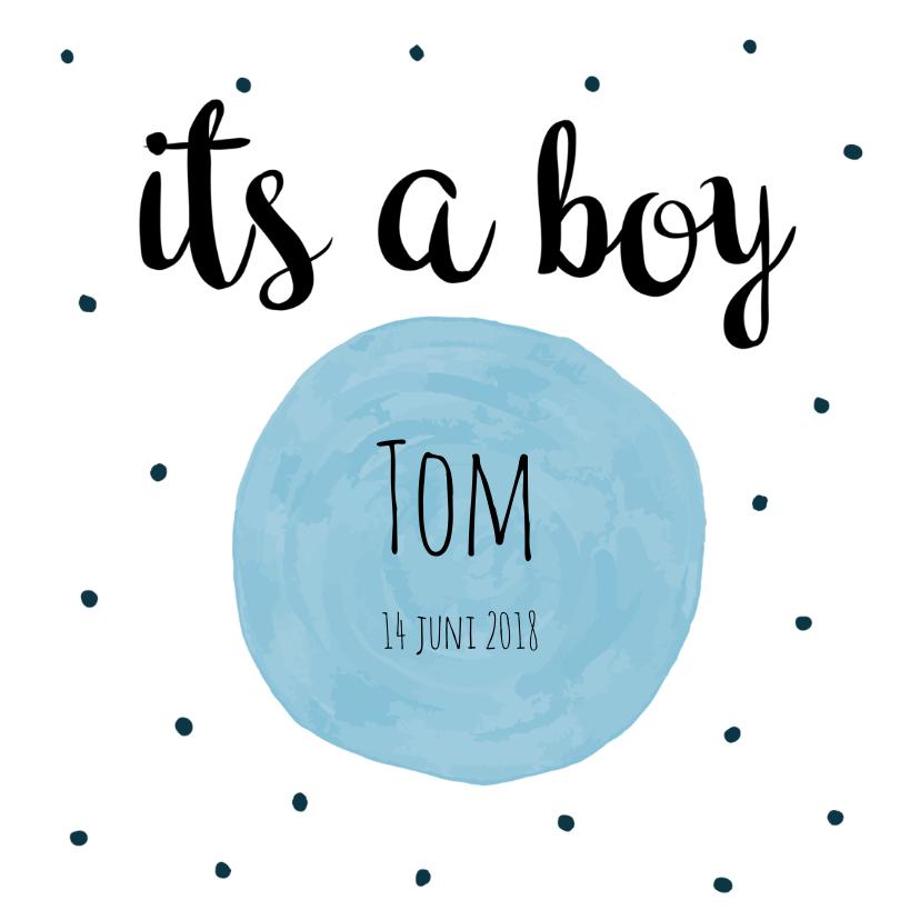 Geboortekaartjes - Geboortekaart its a boy - ME