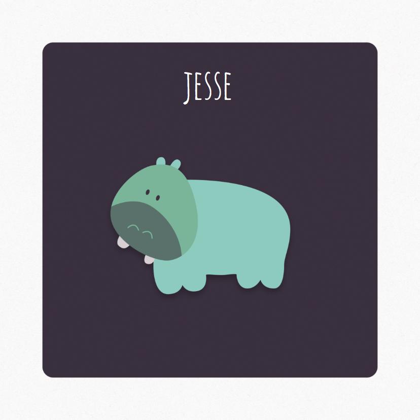 Geboortekaartjes - Geboortekaart | J | Hippo