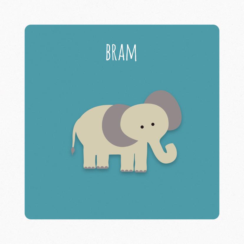 Geboortekaartjes - Geboortekaart | J | Olifant