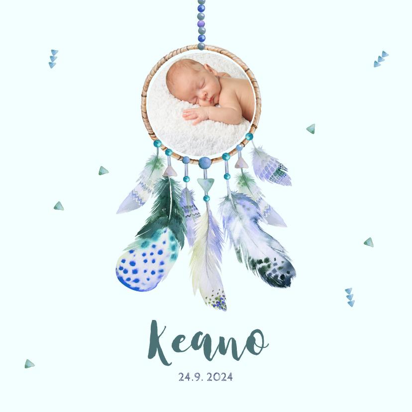 Geboortekaartjes - Geboortekaart jongen dromenvanger