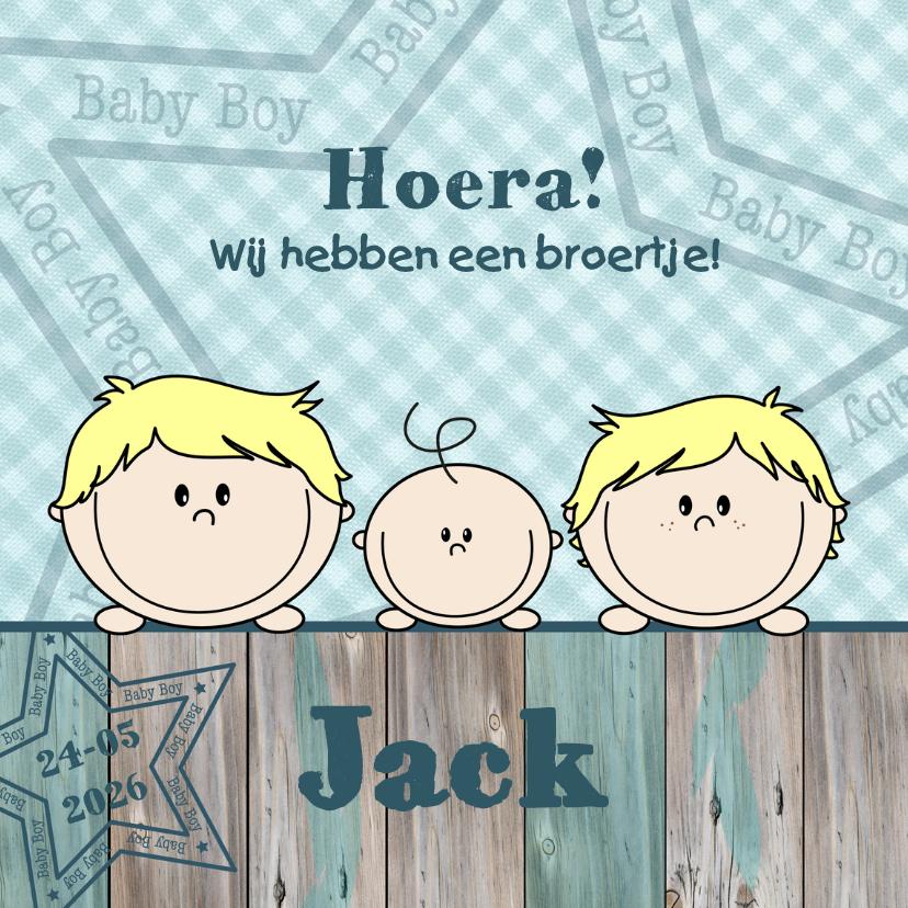Geboortekaartjes - Geboortekaart jongen en broertje