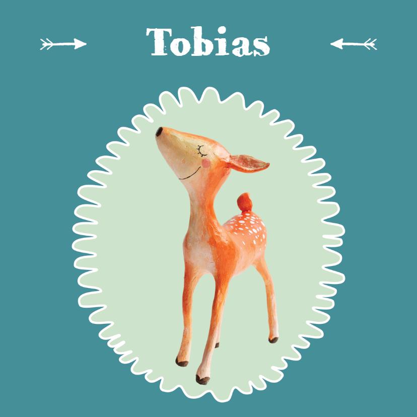 Geboortekaartjes - Geboortekaart jongen hertje