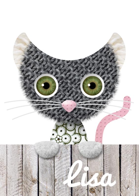 Geboortekaartjes - Geboortekaart kat
