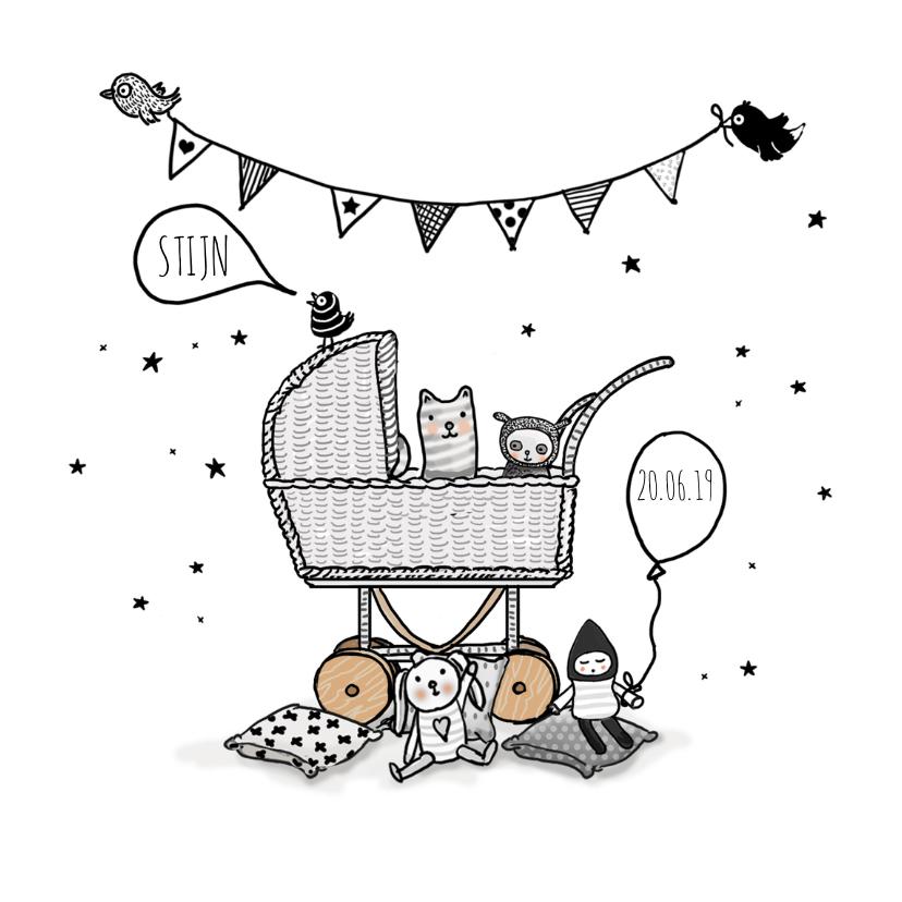 Geboortekaartjes - Geboortekaart  kinderwagen av