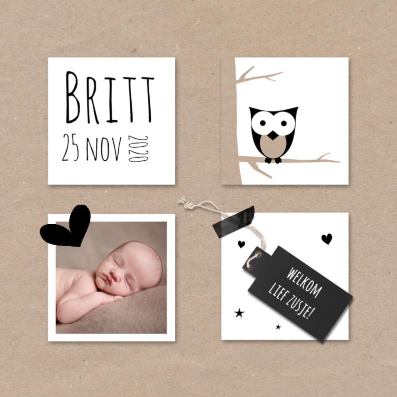 Geboortekaartjes - Geboortekaart kraft vlakken