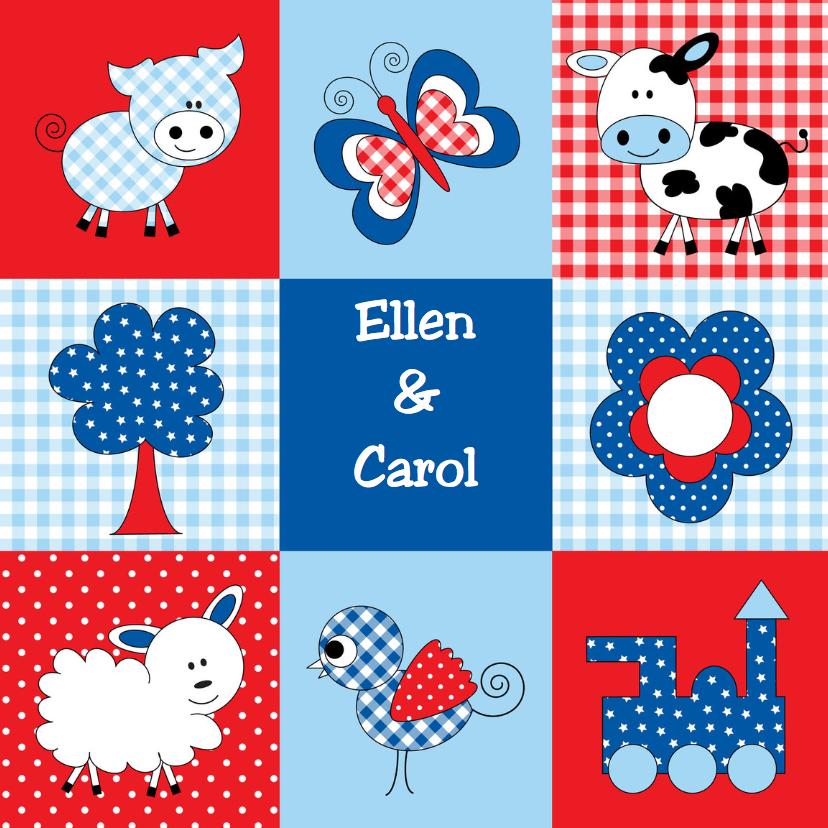 Geboortekaartjes - Geboortekaart LB Ellen en Carol