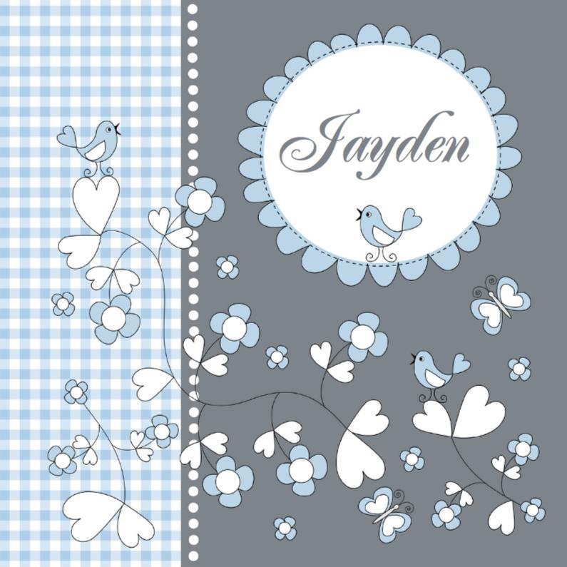 Geboortekaartjes - Geboortekaart LB Jayden