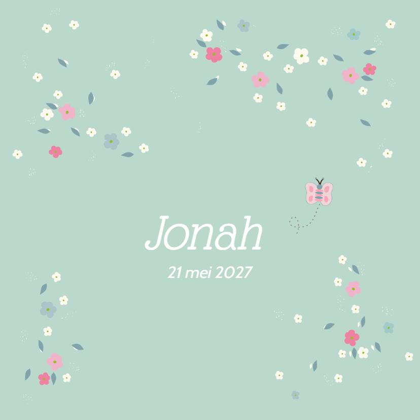 Geboortekaartjes - Geboortekaart lentebloesem Jonah