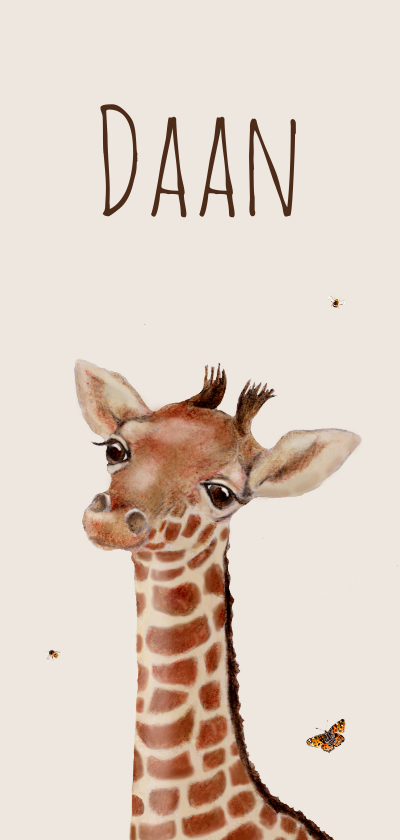 Geboortekaartjes - Geboortekaart Lieve kleine giraffe