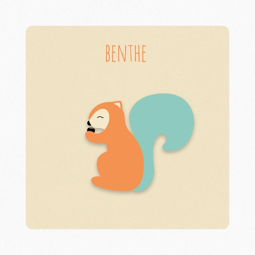Geboortekaartjes - Geboortekaart | M | Eekhoorn