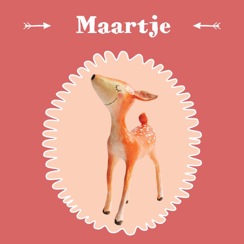 Geboortekaartjes - Geboortekaart meisje hertje