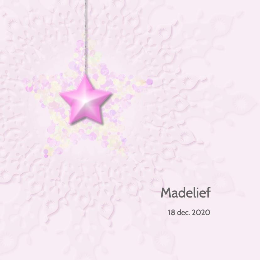 Geboortekaartjes - Geboortekaart meisje -ster-