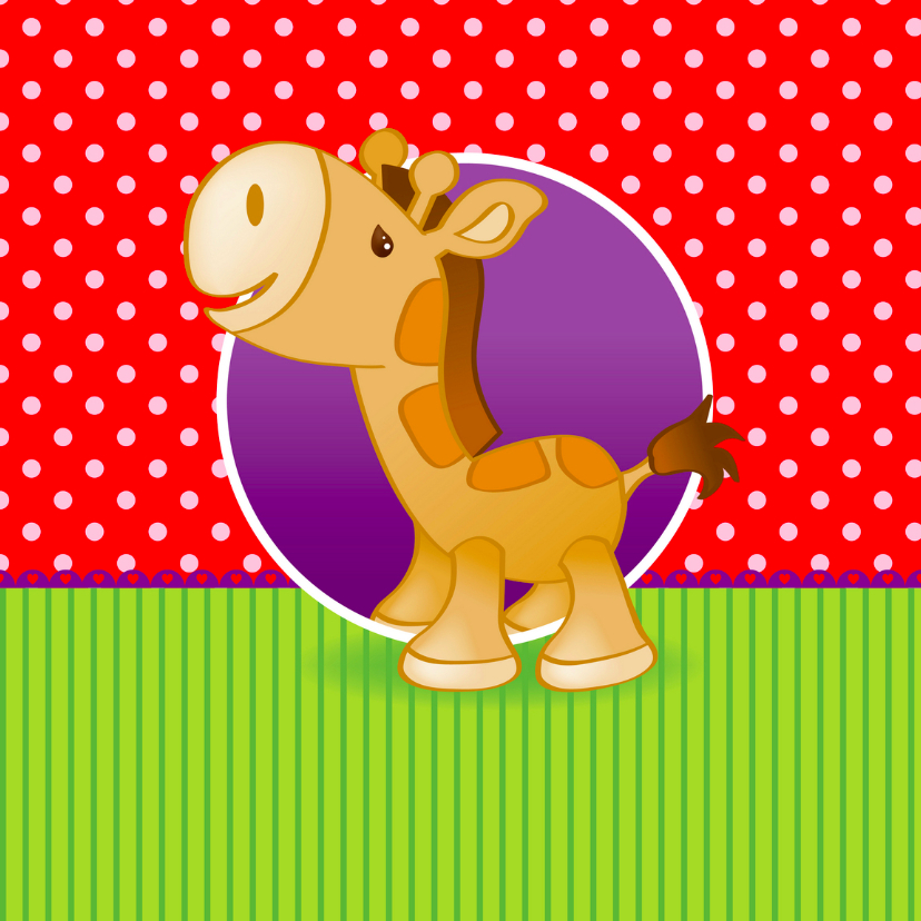 Geboortekaartjes - Geboortekaart met Giraffe
