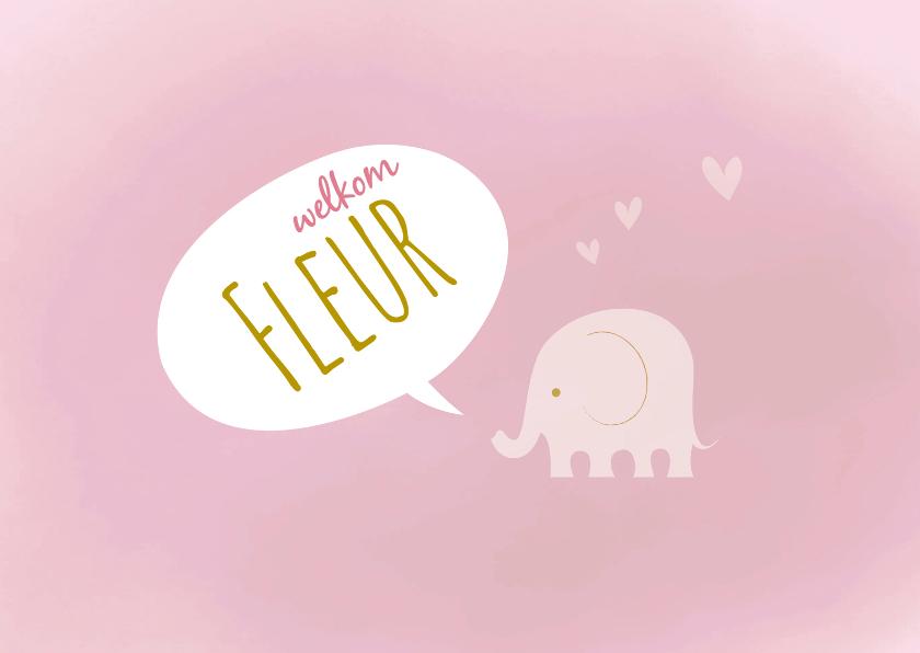Geboortekaart-olif-verf-roze-PF 1
